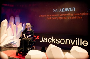Sara Gaver speaks frankly about public perceptions of the disabled. (Photo By Tiffany Manning)