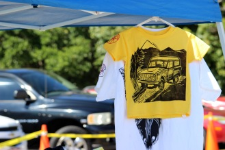 Printed t-shirt made by the Art Guild club. (Photo by Savannah Dobbs)