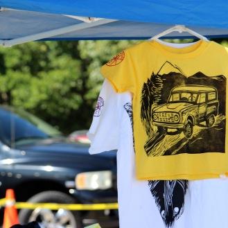 Printed t-shirt made by the Art Guild club. (Photo by Savannah Dobbs)