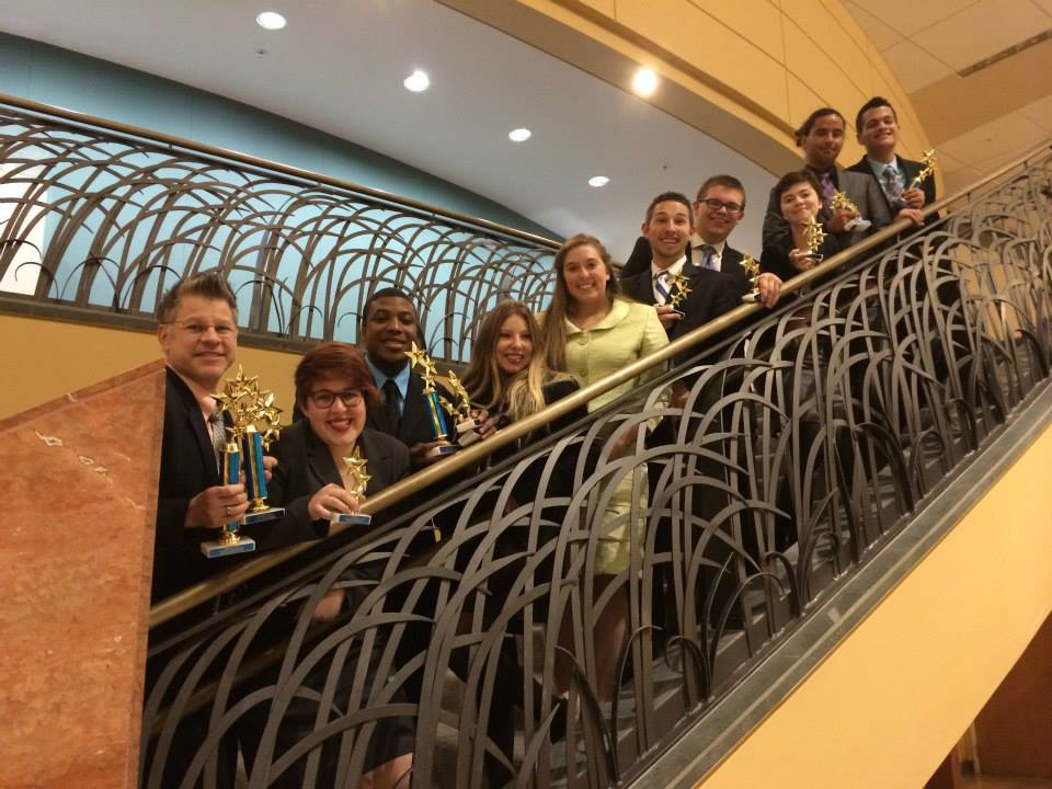 FSCJ's forensics team shows off its prizes after the Star Invitational. Photo Credit: Michael Chouinard