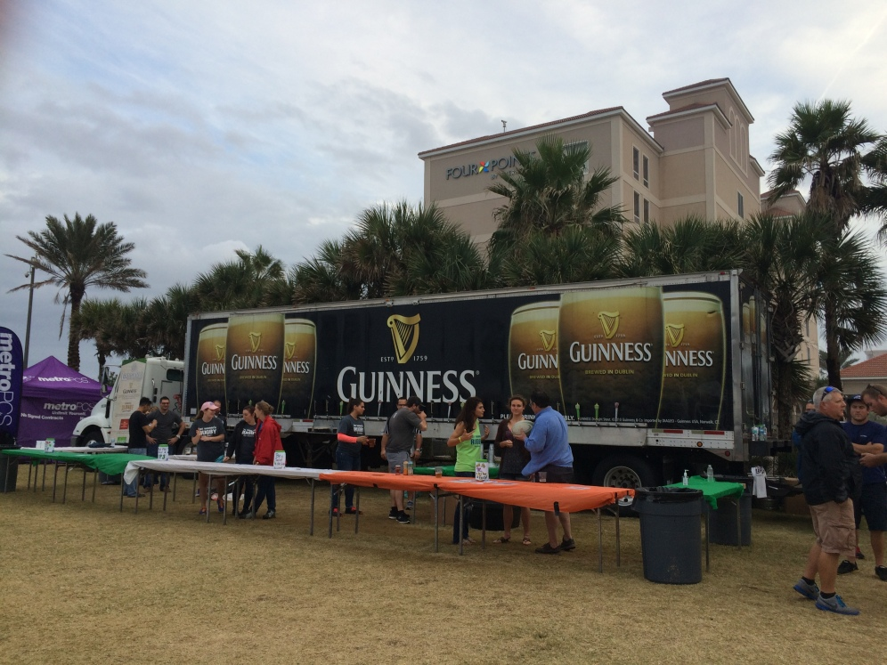 The Guinness truck provided plenty of Celtic refreshments for patrons