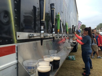 There was no shortage of beer during the festival.