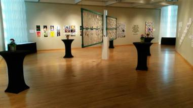 """The """"Hero of the Underground"""" art exhibit at South Campus. (Photo by FSCJ Author Series)"""