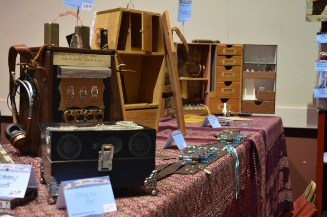 A booth at Ancient City Con set up by Boneshaker Boxes. (Photo by: Alvin Ogando)