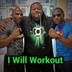 Photo provided by JLOF Justice League of Fitness originators L to R: Terrance Hightower, Leroy Mosley and Ahkem Jordan