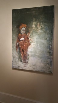 "Artist Franklin Ratliffe, ""collector (major event in furs)."" Oil on canvas, $1000"