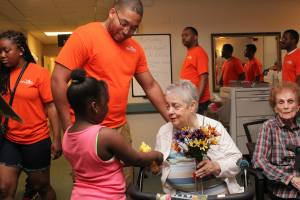 Serve Team loving on Taylor Home residents